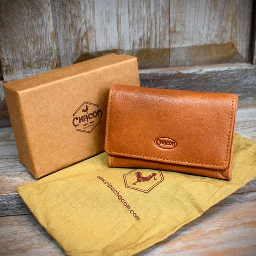 Chacom | Pipe Tobacco Pouch - Box | Tan Leather (CC020 H)