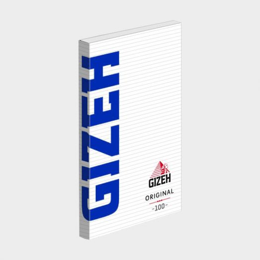"""Gizeh   Original """"Blue"""" Fine '100' Magnetic """" Rolling Papers   Single Booklet 100 Papers"""